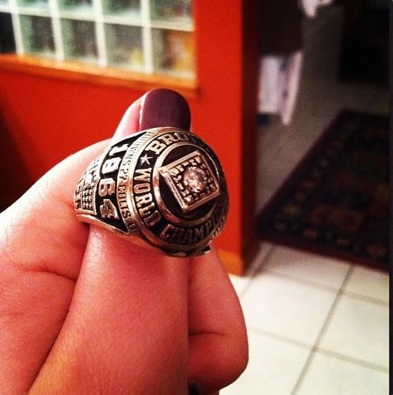 1964 Browns Championship ring.(no really.  it happened.)