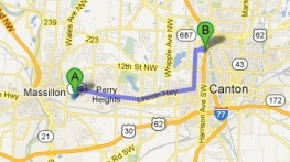 Massillon to Canton: 7.3 miles