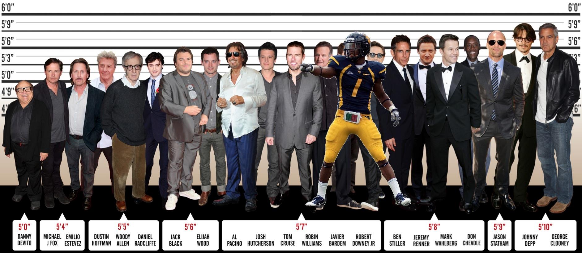 Tavon Austin: taller than Harry Potter, shorter than Captain Jack Sparrow.